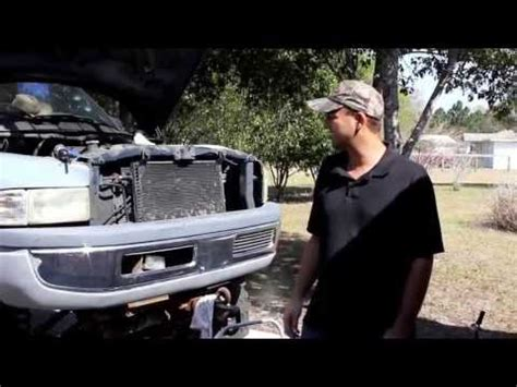 dodge ram 1500 fan clutch removal tool 5 9l v8 dodge ram water pump removal and install air