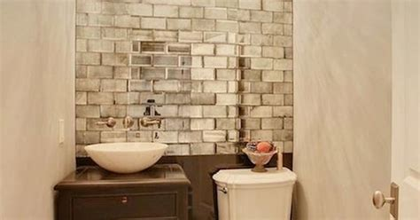 Peel And Stick Subway Tiles Home Depot by Saw The Mirrored Subway Tiles At Home Depot Peel And