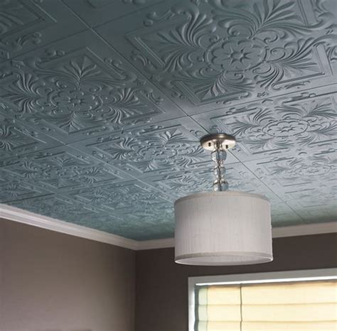 polystyrene foam ceiling tiles covering popcorn