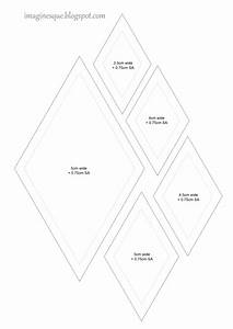 imaginesque quilt diamonds templates With english paper piecing templates uk