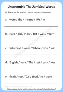 unscramble  jumbled words worksheets  home teacher