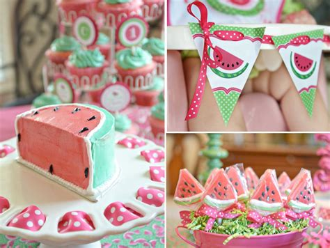 kara 39 s party ideas watermelon fruit summer girl 1st watermelon 1st birthday party