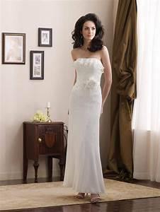 simple layered ruffle flower sequins sheath informal With simple sheath wedding dress