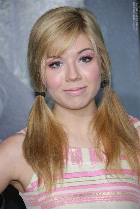 jennette mccurdys youthful pigtail hairdo loose