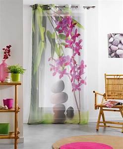 Oeillet De Rideau : rideaux 140x240 cm voile voilage oeillets m tal zen galet ~ Premium-room.com Idées de Décoration