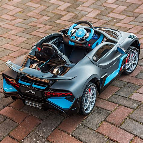Where the chiron is all soft leather and beautifully. Licensed BUGATTI Divo Electronic Car Kids