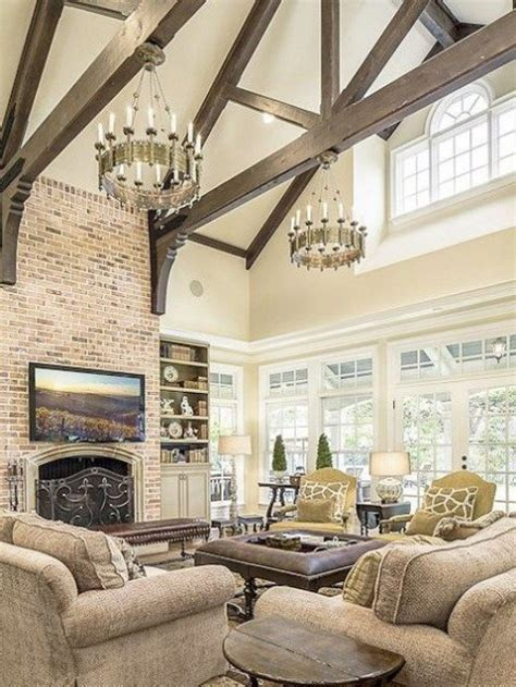 Living Rooms With Exposed Wooden Beams Comfydwelling