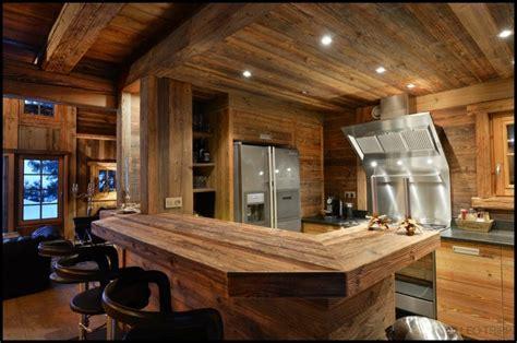 cuisine pour chalet décoration intérieur chalet montagne 50 idées inspirantes