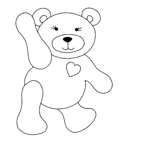 Kleurplaat Moederdag Teddybeer by Leuk Voor Beren 0002