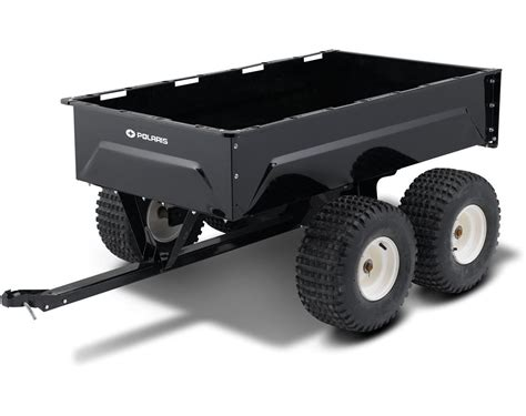 Tandem Axle Metal Utility Cart