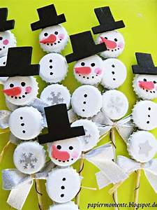 Basteln Winter Kindergarten : schneemann basteln mit kronkorken basteln mit wertlosem material ~ Eleganceandgraceweddings.com Haus und Dekorationen