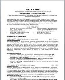 Ad Sales Manager Resume by Advertising Resume Sles Account Executive