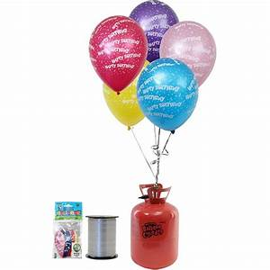 Helium Canister And Balloons Bundle Hobbycraft