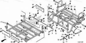 Honda Side By Side 2017 Oem Parts Diagram For Bed