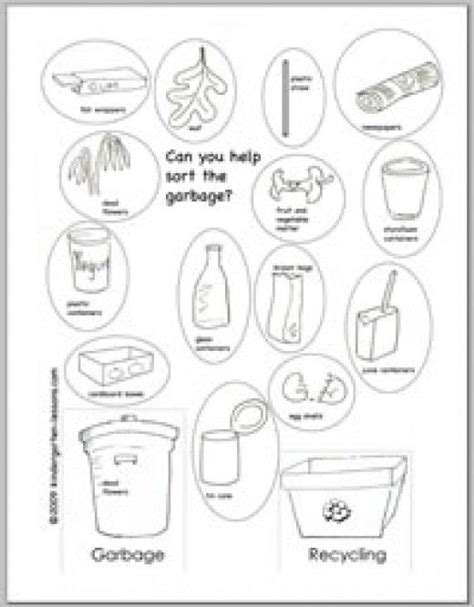 recycling worksheets for kids earth day science worksheets kindergarten lessons recycling