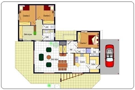 plan maison moderne plain pied plans maisons