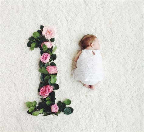 monthly baby   flowers