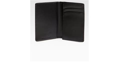 Montblanc Leather Business Card Holder In Black For Men Best Business Card Creator Online Making Name Ideas Wall Organizer Printing Cheap Holder And Notepad Vertical Excel Ordering Software