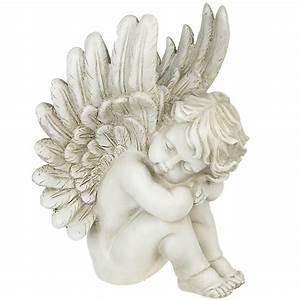 Statuette Ange Exterieur : statuette ange eden assis endormi boutique anges vente d 39 anges ~ Teatrodelosmanantiales.com Idées de Décoration