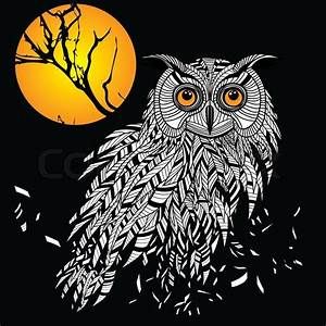Owl bird head as halloween symbol for mascot or emblem ...