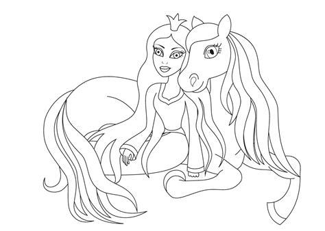 Kleurplaat Paardenhoofden by Top 25 Leukste Prinsessen Kleurplaten Voor Kinderen