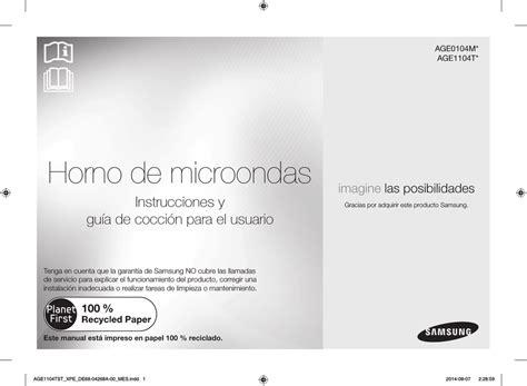 Samsung AGE0104MB Manual de usuario Manualzz