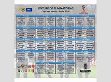 Futbol de Locura Calendario de la Conmebol para Rusia 2018