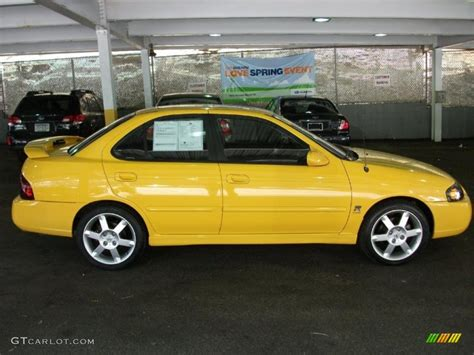 nissan yellow sunburst yellow 2006 nissan sentra se r spec v exterior