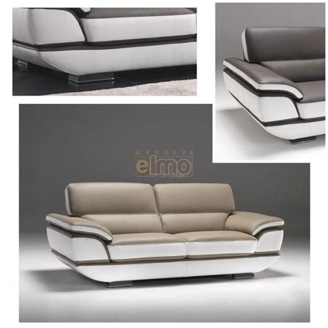 canape bicolore canapé contemporain design moderne cuir bicolore option
