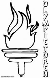 Coloring Torch Olympic Template Colorings Pdf Olympiad Coloringhome sketch template