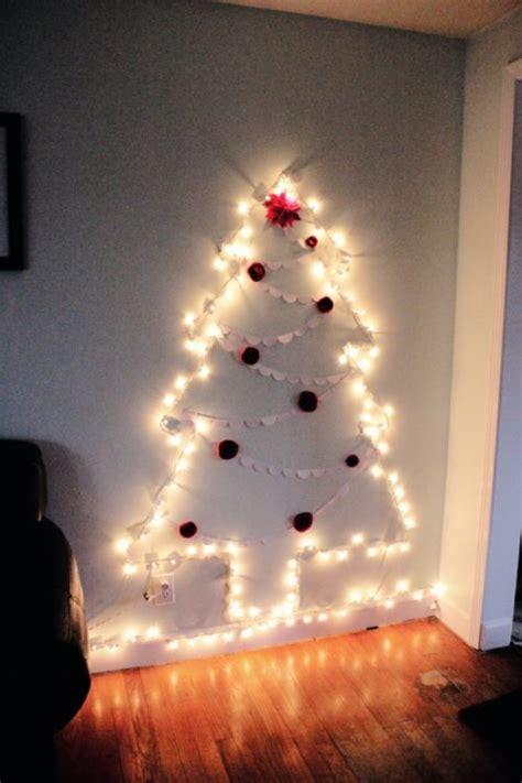 how to do christmas lights on trees how to make a chrismas wall tree 15 amazing wall