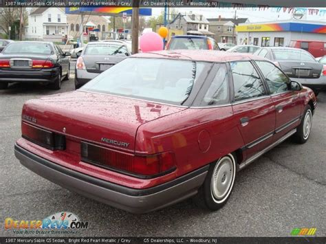 1987 Mercury Sable GS Sedan Bright Red Pearl Metallic ...