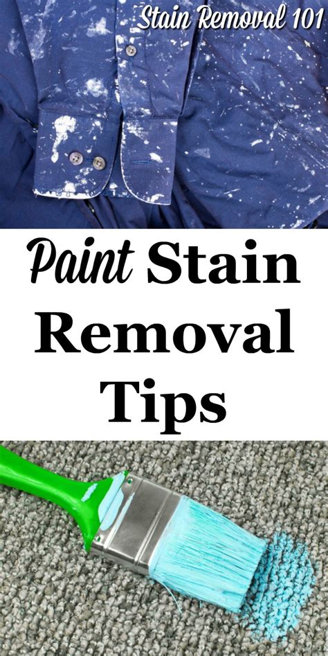 Paint Stain Removal Tips And Tricks