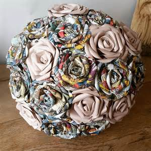 how to make bridal bouquet marvel dc comic wedding theme paper flower bouquet