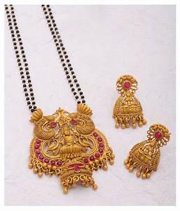 voylla beautiful temple jewelry inspired mangalsutra set