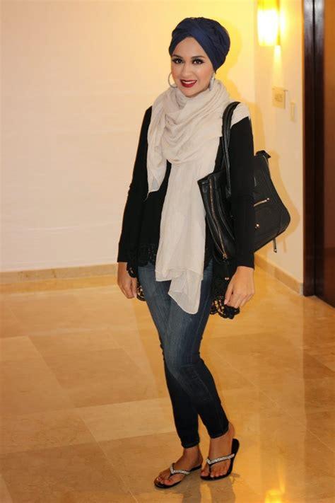 tips mengenakan hijab turban  tidak memperlihatkan