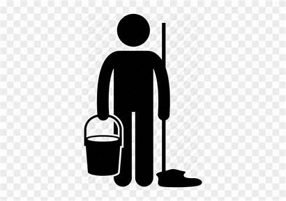 Floor Clip Symbol Cleaning Clipart Janitor Freeuse