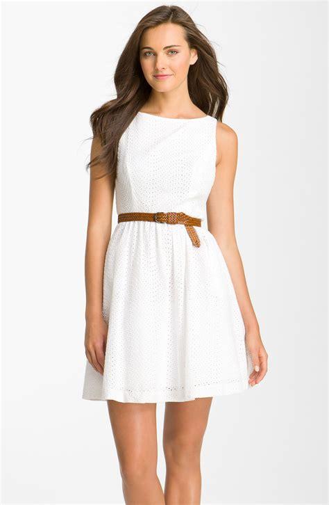 white dresses eyelet dress in white lyst