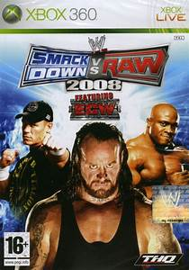 WWE Smackdown Vs Raw 2008 2007 Xbox 360 Box Cover Art