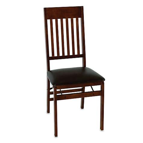 cosco wood folding chair  walnut finish bed bath