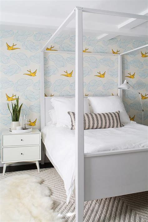 daydream french blue wallpaper design ideas