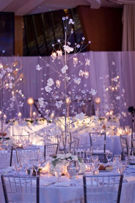 Picture Of A Glass Christmas Tree With Crystals Flowers