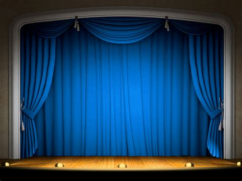 Stage With Blue Curtains Background Gallery Yopriceville