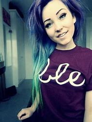 Girls with Blue Ombre Hair