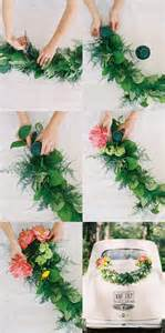 diy wedding diy wedding getaway garland once wed