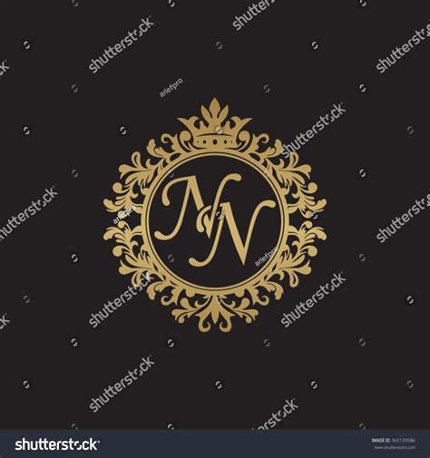 nn initial luxury ornament monogram logo stock vector 343129586