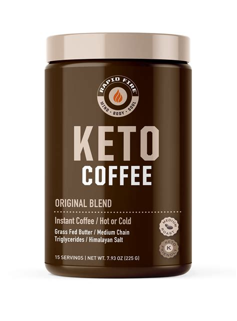 Keto coffee is an amazing drink to help you transition into your intermittent fasting journey while staying satiated during your fasted state. Rapid Fire Ketogenic Coffee Instant Mix, 7.93 oz Bag - Walmart.com - Walmart.com