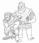 Clash Clans Coloring Roy Crammed Coloringbay Popular sketch template