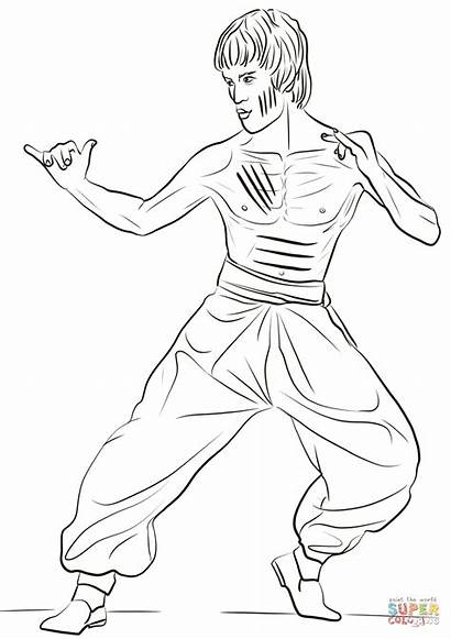 Bruce Lee Coloring Pages China Drawing Printable