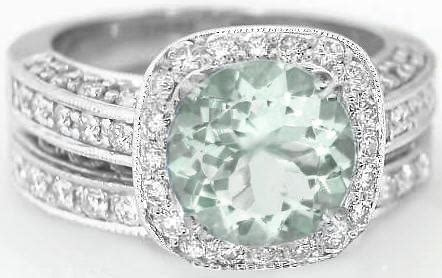 8mm Round Green Amethyst Diamond Halo Engagement Ring With. Expensive Rings. 21k Gold Engagement Rings. Beachy Engagement Rings. Cheap Halo Engagement Wedding Rings. Black Opal Engagement Rings. Connected Wedding Rings. Wedlock Wedding Rings. Simple Little Wedding Rings